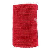 Red Metallic Deco Mesh Ribbon - 5 1/2""